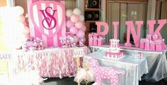 12th Birthday Party Ideas, Hotel Birthday Parties, Birthday Snacks, Hotel Party, Birthday Party Decorations, Pink Birthday, 16th Birthday, Victoria Secret Party, Heart Party