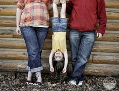 fun family pose for a wiggly toddler! Maybe we'll try this!?!?!