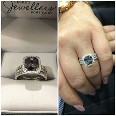 There's nothing grey about this spectacular spinel 😳❤️ via Lucky Ladies, Bridal Sets, Jewelry Stores, Class Ring, Custom Design, Diamonds, Engagement Rings, Jewels, Gemstones