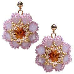 Rosa Rocailles-Blüten von Perlotte Schmuck