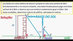Curso de Física Cálculo da altura do edifício ou árvore através da medid... https://youtu.be/rTEer4dlow4