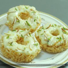 Malai Ghevar is a special sweet for the festival of Sawan and Rakhsha Bandhan. Recipe in English - https://goo.gl/m9zeYC  Recipe in Hindi - https://goo.gl/LsphZe (copy and paste link into browser)