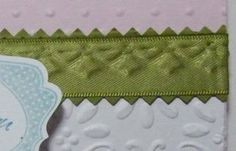 Embossed ribbon for card or scrapbook page