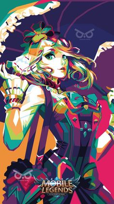 Kagura Mobile Legends in WPAP by danangbisma on DeviantArt Sad Anime Girl, Anime Life, Mobile Legend Wallpaper, The Legend Of Heroes, Copic Art, Gaming Wallpapers, Samurai Warrior, Mobile Legends, Anime Demon
