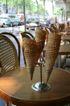 Important reading - Ice cream in Paris by David Lebovitz. Important eating - every time I've been there.