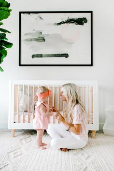 Our Home: Harper's Nursery - Kailee Wright Newborn Nursery, Baby Nursery Neutral, Nursery Design, Nursery Decor, Nursery Ideas, Harper Nursery, Kailee Wright, Giraffe Decor, Minimalist Nursery