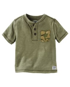 Baby Boy Pocket Henley from OshKosh B'gosh. Shop clothing & accessories from a trusted name in kids, toddlers, and baby clothes.
