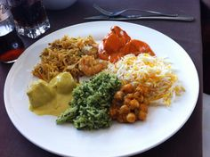 Un plato combinado de mi comida favorita #indio