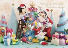 Disney Mickey and Friends Christmas Party Christmas Card