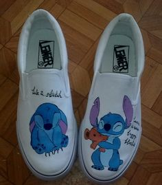 XT02 Lilo and Stitch Hand-painted Canvas Shoes Women Girls Canv,Low-top Painted Canvas Shoes