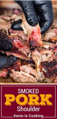 Barbecue Pulled Pork, Smoked Pulled Pork, Barbecue Recipes, Grilling Recipes, Lamb Recipes, Meat Recipes, Smoked Pork Shoulder, Best Pork Recipe, Smoking Recipes