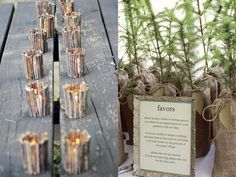 themed wedding party favors. wood by Stephanie G. James, via Flickr