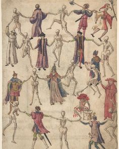 """Anonymous, German. The Dance of Death, 16th century. #metmuseum #Hallowseve #HappyHalloween"""