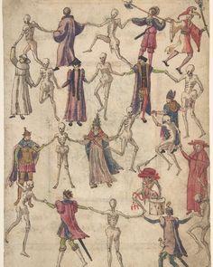"""Anonymous, German. The Dance of Death, 16th century. #metmuseum #Hallowseve #HappyHalloween"""