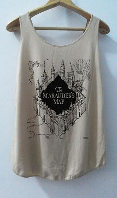 The Marauder's MapTshirt Pop Punk Rock Tank Top Vest Women T shirt Movie T-Shirt SizeS,M,L