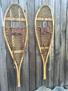 Vintage Canadian Faber Snowshoes