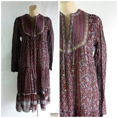 Vintage India gauze dress 1970's hippie by WindingRoadVintage, $150.00