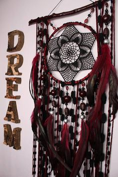 Dreamcatcher burgundy Сrescent Dream Catcher Large Dreamcatcher Dream сatcher dreamcatchers boho burgundy dreamcatchers wall decor handmade Approximately 53-54 cm The shape of the natural branch can be partially different Dreamcatcher Mint Dream Catcher L http://laboheme.life/