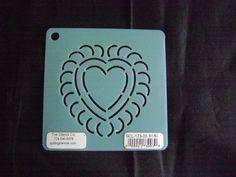 Sashiko Japanese Embroidery Stencil 3 in. Heart Motif Block/Quilting by KimonoBoro on Etsy