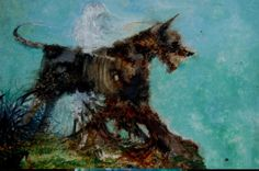 Dark gothic art. Hound.  Artist: Meindert Sterk Dark Art Paintings, Dark Gothic Art, Painting & Drawing, Moose Art, Drawings, Artist, Animals, Animales, Animaux