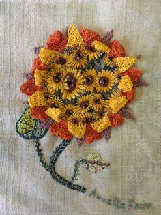 Sunflower needle weave