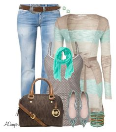 Striped Cardigan & Dots by anna-campos on Polyvore featuring polyvore, fashion, style, Gaudì, Lykkelig, Meltin'Pot, Michael Kors, Forever 21, Kate Spade, Aéropostale and Miss Selfridge