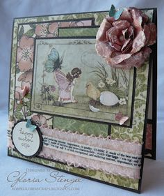 Beautiful Easter card by @Gloria Stengel! #graphic45 #card #easter