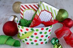 Candy Bar Wrapper Holiday Printable - DIY gift idea for the mailman, ups guy (he's at our house A LOT for christmas online shopping/delivery), neighbors, etc.