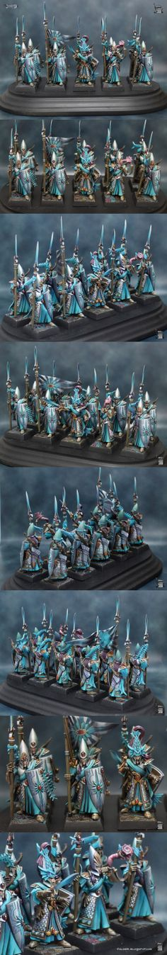 Fantastic high elf miniatures. This person is amazing.