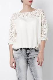 Resultado de imagen para blusa facil para hacer con encaje
