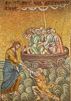 01 Anonymous. Christ Walks on the Water. Duomo di Monreale. Monreale (Sicily) (IT)