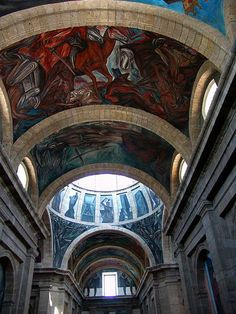 Orozco Murals Cabanas | Pictures of Jose Clemente Orozco murals at the Cabanas building in ...