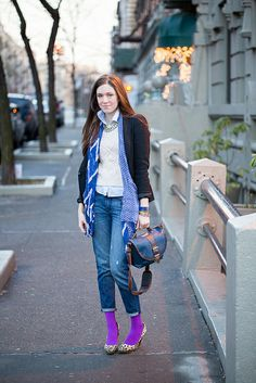A pair of Gap jeans as featured on the blog Chicasaurus-Rex.