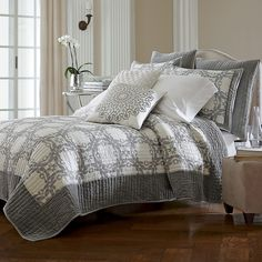Trianon Handcrafted Quilt & Shams   The Company Store