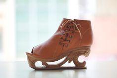 Wood Platform Wedge Heel by Fashion4Freedom on Etsy