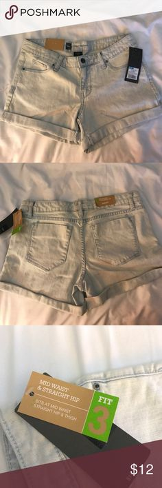 Light Blue Jean Shorts Brand New! Mossimo Supply Co.  Fit 3 Mid Waist & Straight Hip Short. Size: 6 Mossimo Supply Co Shorts Jean Shorts