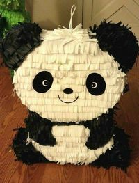 Panda Piñatas are the perfect addition to any outdoor birthday party you cant go wrong with this theme so neautral gender! Panda Birthday Party, Birthday Pinata, Panda Party, Bear Party, Bear Birthday, Panda Love, Cute Panda, Panda Bear, Halloween Party Decor