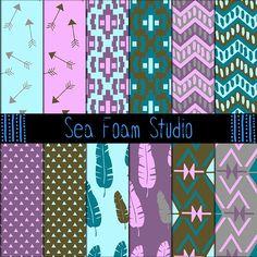 Tribal Patterns - Pack B by Sea Foam Studio on @creativemarket
