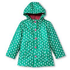 Infant Toddler Girl's Seahorse Raincoat - Teal