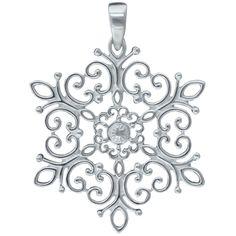 Southern Gates Sterling Silver Snowflake Pendant