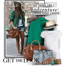Get the Look, created by cynthia335 on Polyvore. I have a pink blazer that I would do this with