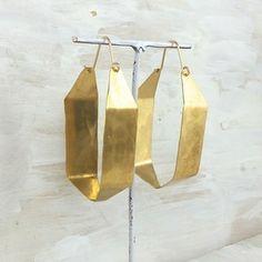 Earrings by Fail Jewelry- Bastet large geometric hoop