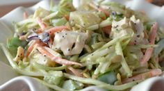 A Quick & Easy Crunchy & Sweet Chicken Pineapple Poppyseed Salad.