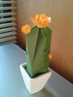 mas cactus en origami, plegado por mi