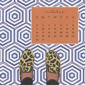 Sweet Caroline Designs Desk Calendar 2016 October