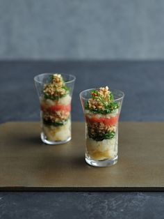 [Recipe] Verrine of Natto (fermented soy beans), potato and Mentaiko (spicy cod roe) / Natto transformed into stylish appetiser!