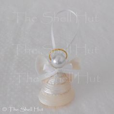 Seashell Angel Real Pearled Shell Christmas Party by shellhut