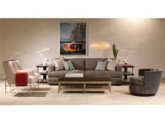 Michael Weiss by Vanguard: W197-CH Chairs / W395SL Short Console / W179-S Sofa / W195-SW Swivel Chair