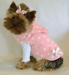 Pink & White Hoodie Dress