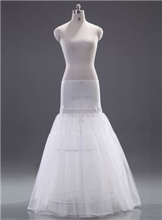 Gentlewomanly Two Layers Dropped Waistline Mermaid Wedding Petticoat